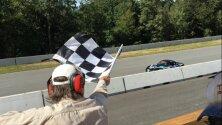 JT Coupal, Race Car Driver at Finish Line